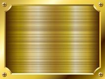 Zolla dorata in bianco Immagini Stock Libere da Diritti