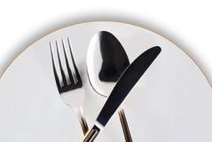 Zolla, lama, forchetta e cucchiaio Immagini Stock Libere da Diritti