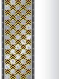 Zolla metallica con i segnali di pericolo Fotografie Stock Libere da Diritti