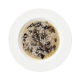 Zolla rossa del riso degli spinaci della cicoria isolata su bianco. Immagini Stock