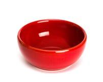 Zolla rossa su bianco immagine stock