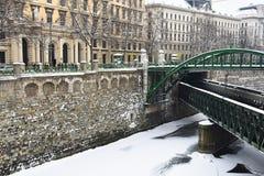 Zollamtsbrucke和Zollamtssteg Zollamt桥梁 库存图片