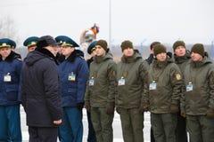 Zollbeamten an der Einweihung neuer ukrainischer Grenze Palanca Moldovans lizenzfreie stockfotografie