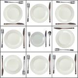 Zolle del Collage- su priorità bassa bianca. Immagine Stock Libera da Diritti