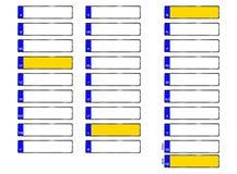 Zolle di immatricolazione dei veicoli - formato dei cdr Fotografie Stock