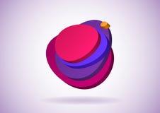 Zolle a forma di 3D dell'uovo illustrazione di stock