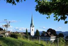 Zollikon del villaggio nello swtizerland Immagini Stock Libere da Diritti