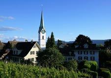 Zollikon del villaggio nello swtizerland Immagine Stock Libera da Diritti