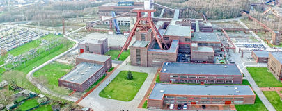 The Zollverein Coal Mine Industrial Complex Stock Photo