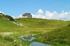 Zollwachhutte, Ratikon, Vorarlberg, Austria Fotografie Stock Libere da Diritti