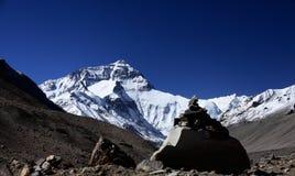Zolmo Lungma le mont Everest Everest de Qomolangma de bâti photographie stock libre de droits