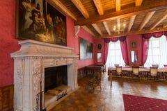 Zolochiv,乌克兰- 2017年5月02日:Zolochiv宫殿城堡在利沃夫州地区,乌克兰美好的内部  库存图片