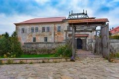 Zolochiv Lviv Oblast Ουκρανία, στις 7 Οκτωβρίου 2017, άποψη Zolochiv Castle Στοκ Εικόνες