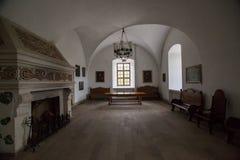 Zolochiv Ukraina, MAJ, - 02 2017: Piękny wnętrze Zolochiv pałac kasztel w Lviv regionie, Ukraina Zdjęcie Stock