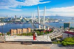Zolotoy Golden Bridge, Vladivostok Royalty Free Stock Photography