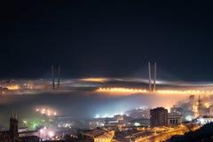 Zolotoy Rog桥梁。 免版税库存照片