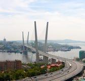 The Zolotoy Rog bridge. Stock Image