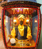 Zoltar. Fort Lauderdale, USA, May 14 2011: Zoltar, is an animatronic fortune telling machine popularized in the 1980s Tom Hanks' movie Big. This particular Royalty Free Stock Images
