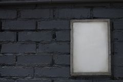 Zombaria acima da moldura para retrato vazia do cartaz Fotografia de Stock