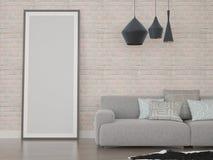 Zombaria acima da parede de tijolo vazia do cartaz Imagem de Stock