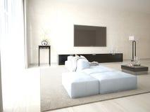 Zombaria acima da tevê do cartaz com mobília funcional Imagens de Stock Royalty Free