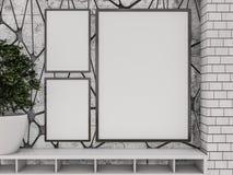 Zombaria acima do cartaz no interior da sala de visitas 3d Imagens de Stock
