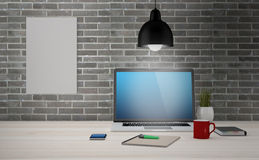 Zombaria acima do escritório moderno Foto de Stock