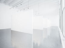 Zombaria acima do interior branco da galeria 3d rendem Imagens de Stock