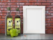Zombaria acima do quadro vazio rendição 3d Fotografia de Stock
