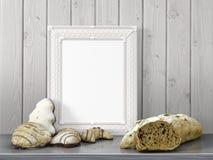 Zombaria acima do quadro vazio rendição 3d Foto de Stock Royalty Free