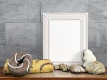 Zombaria acima do quadro vazio rendição 3d Foto de Stock