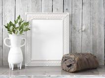 Zombaria acima do quadro vazio rendição 3d Fotos de Stock Royalty Free