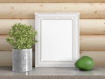 Zombaria acima do quadro vazio rendição 3d Fotografia de Stock Royalty Free