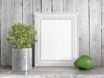 Zombaria acima do quadro vazio rendição 3d Imagem de Stock