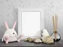 Zombaria acima do quadro vazio rendição 3d Imagens de Stock Royalty Free