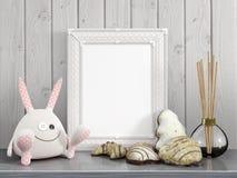 Zombaria acima do quadro vazio rendição 3d Imagens de Stock