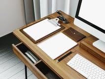 Zombaria acima do tela de computador genérico do projeto e Foto de Stock Royalty Free