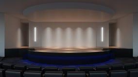 Zombaria da fase acima da rendição 3d molde vazio da tela da parede ilustração do vetor