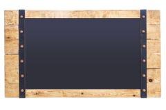 Zombaria da placa do quadro de madeira do quadro acima do sinal isolado Fotografia de Stock