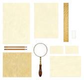 Zombaria de papel velha do molde acima Imagens de Stock