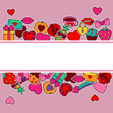 Zombaria do amor acima Fotos de Stock