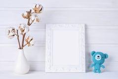 Zombaria do branco acima do quadro imagens de stock