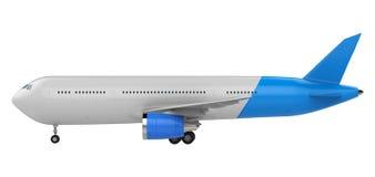 Zombaria do branco e do azul acima do plano Imagem de Stock Royalty Free