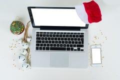 Zombaria do Natal acima Imagens de Stock