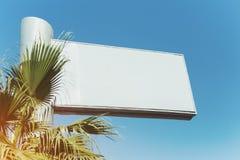 Zombaria do quadro de avisos acima com fundo do céu em Dubai Fotos de Stock Royalty Free