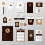 Zombaria realística do grupo acima do molde para a cafetaria ou o restaurante Cartão do café, menu, copo, bloco de papel, projeto ilustração royalty free