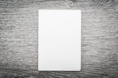 Zombaria vazia do branco acima do livro Imagens de Stock