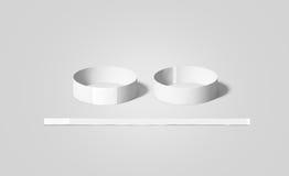 A zombaria vazia dos punhos do Livro Branco levanta, parte dianteira e verso Imagens de Stock Royalty Free