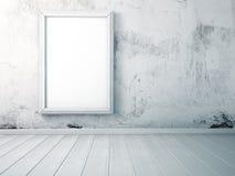 Zombe acima da imagem no quadro, estando em um assoalho de madeira no interior Fotos de Stock Royalty Free