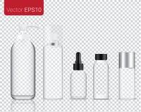 Zombe acima do comprimido e da vitamina realísticos da medicina da mistura com ilustração do fundo do frasco da garrafa de vidro ilustração stock